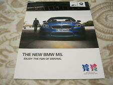 2012 BMW M5 Full Brochure Catalogue Prospekt ENGLISH