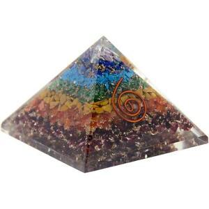 7 Chakra with Copper Swirl Orgone 4' Pyramid!