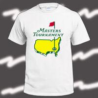 Masters Tournament Golf Logo Men's White T-Shirt Size S-3XL