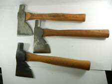 Lot Of 3 Old Hatchets small axe roofing camping Ace Hardware Stanley other