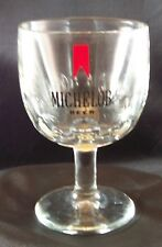 Vintage Michelob Beer Thick Bar Glass Thumbprint Goblet Bartlett Collins