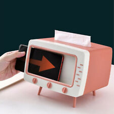 TV tissue box + mobile phone stand desktop tissue napkin container holder rack