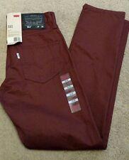 NWT Levi's Men's 511 Skinny Fit Twill Pants 29x30 Andorra #0653 NEW RARE