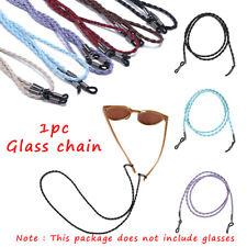 Eyeglass Cord Strap Leather Neck String Rope Band Adjustable Eyeglasses Holder
