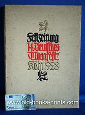 KÖLN - Festzeitung des Deutschen Turnfests 1928. Original! Schöne Illustrationen