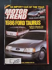 Motor Trend March 1985 BMW 535i - Honda CRX si - 1986 For Taurus - Mercury Sable