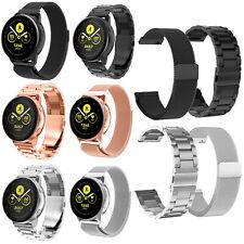 Für Samsung Galaxy Watch Active Metall Uhrenarmband Armband Strap 20mm Band 2pcs