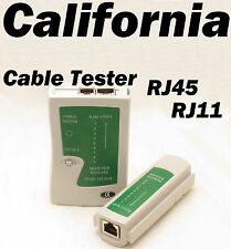 Network LAN Cable Tester Test RJ45 RJ-11 CAT5 UTP Ethernet Tool Cat5 6 E RJ11 8P