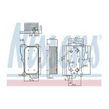 Fits Mercedes C-Class W204 C 300 4matic Genuine Nissens Gearbox Oil Cooler