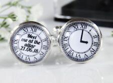 Personalised Wedding Groom Gift Cufflinks Clock Meet Me At The Altar In Box
