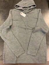 BNWT Stitch Note Merino Wool Sweater Hoodie, Grey, Small