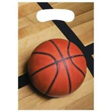 Sports Fanatic Basketball Loot Bags 8 Pack Birthday Party Decorations