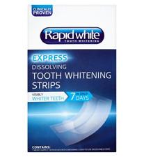 RAPID WHITE 1 Week Teeth Whitening Strips 4 Shades Whiter Teeth *Brand New*