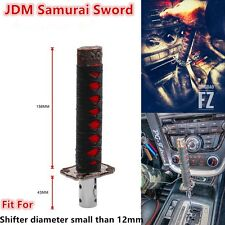 Espada Samurai corto de coche JDM Shift Perilla de Palanca de cambios Shift perilla Negro + Rojo