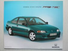 Prospekt Honda Civic Coupe PRO-TEC, 5.1995, 2 Seiten, 30x24 cm groß