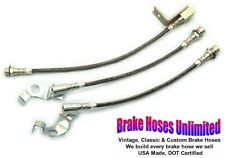 STAINLESS BRAKE HOSE SET Ford Country Sedan 1965 1966 - Front Disc