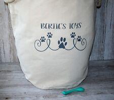 Personalised  Dog Cat Pet Storage Tub Puppy Toy Tidy Storage Gift Sack