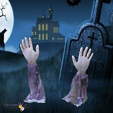 2x Arme Rasen Stäbe Requisite Friedhof Zombie Halloween Party Dekoration