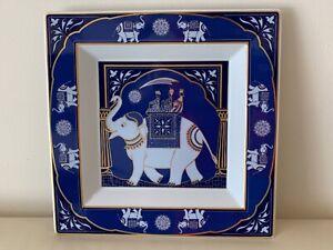 Rare Rosenthal Porcelain The Maharaja's Gift Elephant Motif Large Square Dish