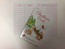 NEW 5 Year Snowman Rabbit Christmas Holiday Card Address Record Book - Free Ship
