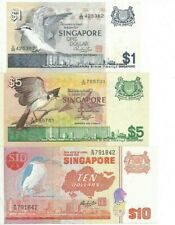 SINGAPORE $ Bird Series  3pcs set