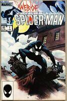 Web Of Spider-Man #1-1985 fn/vf 7.0 Spiderman 5th Black Costume Charles Vess