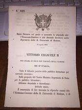 REGIO DECRETO AUM STIPENDIO ECONOMO-CASSIERE e 2°SCRITTORE R UNIVERSITà MODENA