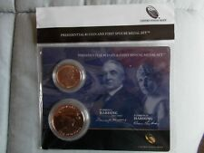 2014 Presidential $1 Coin and First Spouse Medal Set Warren G & Florence Harding