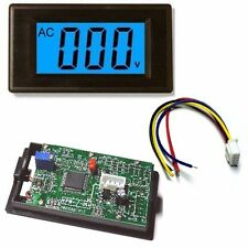 NEW 3½ AC 0-500V Blue LCD Volt Panel Meter AC Voltmeter - UK seller
