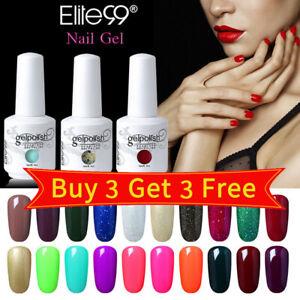 15ML UV LED Colour Gel Polish Lacquer Top Base Coat Nail Art Set Manicure