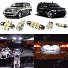 11 White LED light interior package kit for 2011-2017 Infiniti QX56 or QX80 IQ1W