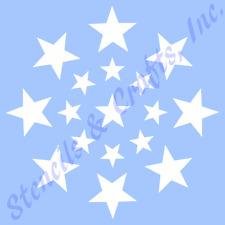 STAR STENCIL STARS CIRCLE TEMPLATES STENCILS TEMPLATE PAINT ART CRAFT NEW