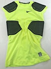 �New� Nike Pro Combat Men's Hyperstrong 4-Pad Protective Shirt Yellow, M #W507