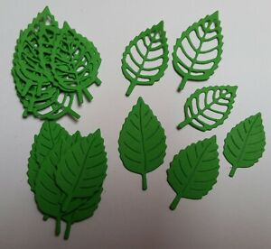 24 DIE CUT GREEN LEAVES  FOR CRAFTS