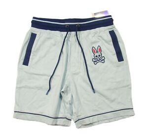 Psycho Bunny Men's Corydalis Blue Big Bunny Woven Jam Lounge Shorts