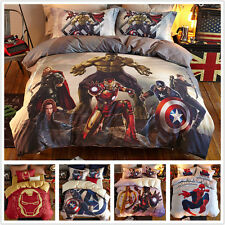 The Avengers Captain America Iron Man Hulk Thor Hero Duvet Cover Bed Bedding Set