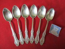 (6) Rogers Oneida Vintage Silverplate Teaspoons, 1898 Carlton     #21