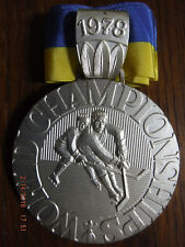 1978 IIHF WORLD ICE HOCKEY Championships PARTICIPANT SILVER PRIZE MEDAL PRAGUE