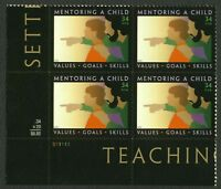 #3556 34c Mentoring A Child, Plate Blk [S11111 LL], Mint **ANY 4=FREE SHIPPING**