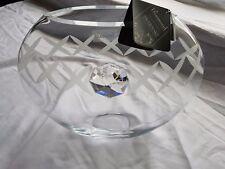 Valentines day gift Vase Elegant Hand Blown Glass with Swarovski Crystal  W2A