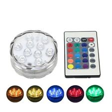 NEW Submersible LED Light 10leds Wedding Colorful Underwater + 24keys Controller