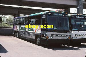 Peter Pan Bus Lines 3429 original Kodachrome color bus slide