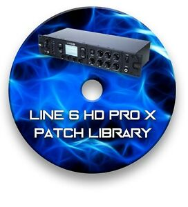 Line 6 HD Pro X Guitar Effects Pedals - Sounds Tone Patches Library 2000+ CD