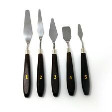 5 Piece Stainless Steel Ceramics Tools Spatula Palette Knife Mixing Scraper Set