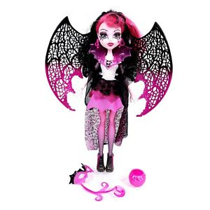 Monster High DRACULAURA Ghouls Rule Doll by Mattel w/ Wings, Mask, Purse
