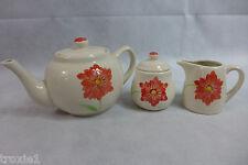 Tea Set Gold Coast Ceramic Pot Sugar & Creamer Floral 3 PC in The Box 507A New