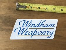 Windham Weaponry Gun And Firearms Logo Sticker/Decal Shot Show Approx 5""