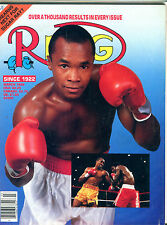 The Ring Boxing Magazine March 1989 Sugar Ray Leonard EX 060316jhe