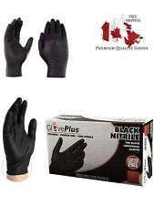 PREMIUM 5 mil Small Black Nitrile Glove Plus Disposable Powder Free BOX OF 100
