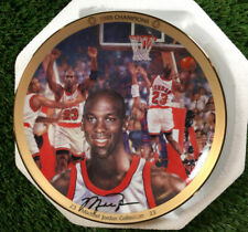 """UPPER DECK MICHAEL JORDAN """"1993 CHAMPIONS"""" LIMITED EDITION 8"""" PLATE WITH COA"""